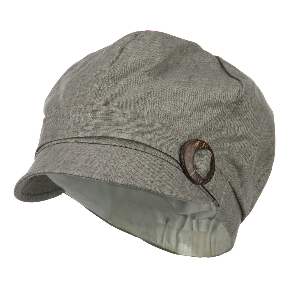 Woman's Six Panel Buckle Detail Cabbie Cap - Dark Grey - Hats and Caps Online Shop - Hip Head Gear