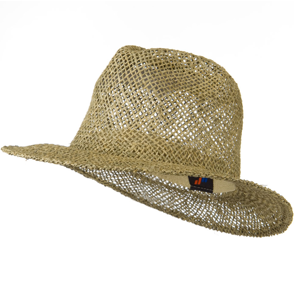 Safari Straw Hat with Pinched Top - Natural - Hats and Caps Online Shop - Hip Head Gear