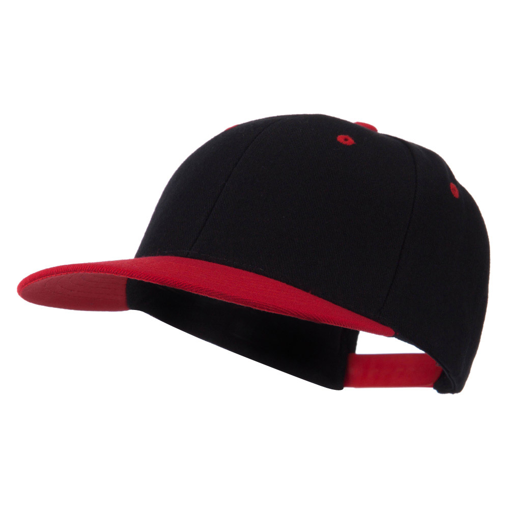 Classic Two Tone Snap Back Cap - Red - Hats and Caps Online Shop - Hip Head Gear