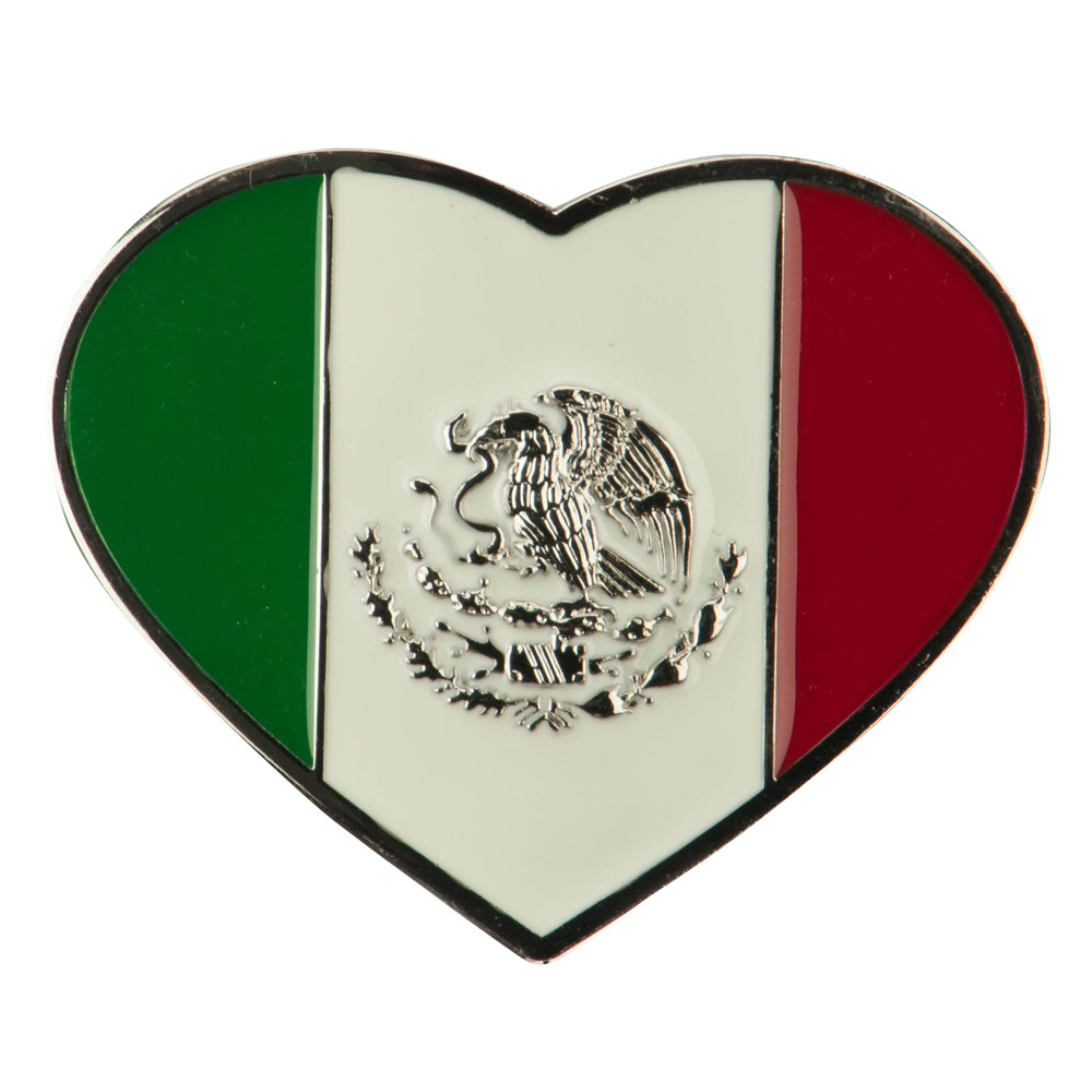 North and South American Belt Buckle - Heart