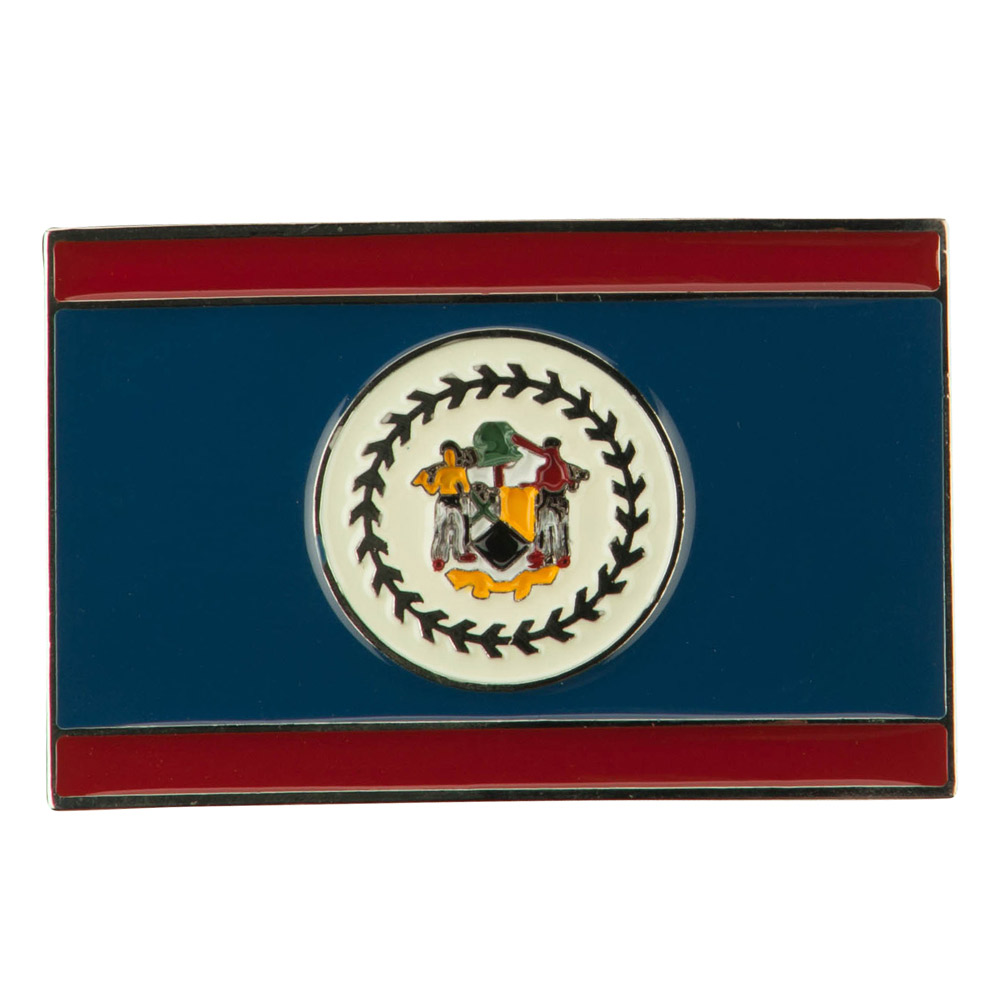 North and South American Belt Buckle - Belize 2