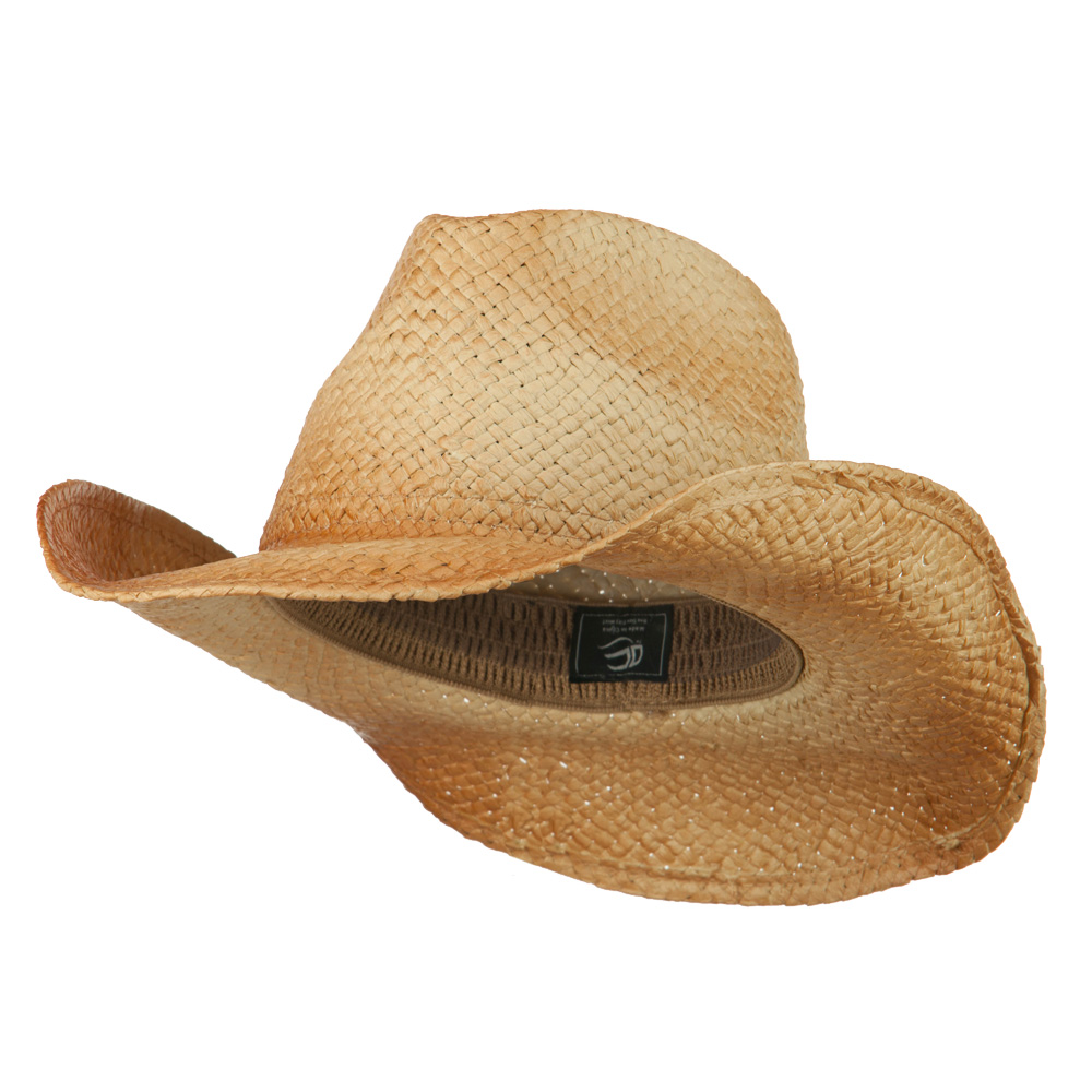Customizable Raffia Straw Cowboy Hat - Natural - Hats and Caps Online Shop - Hip Head Gear
