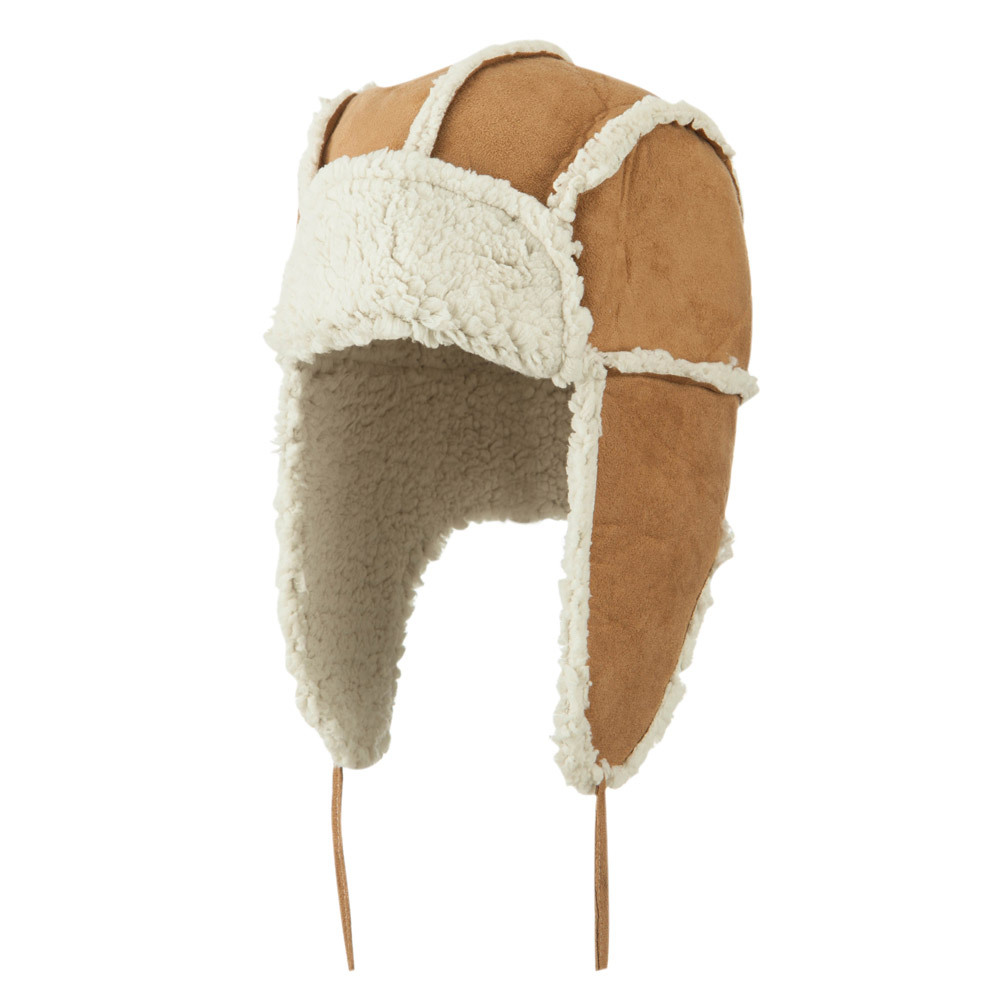 Women's Faux Shearling Trooper Hat - Natural - Hats and Caps Online Shop - Hip Head Gear