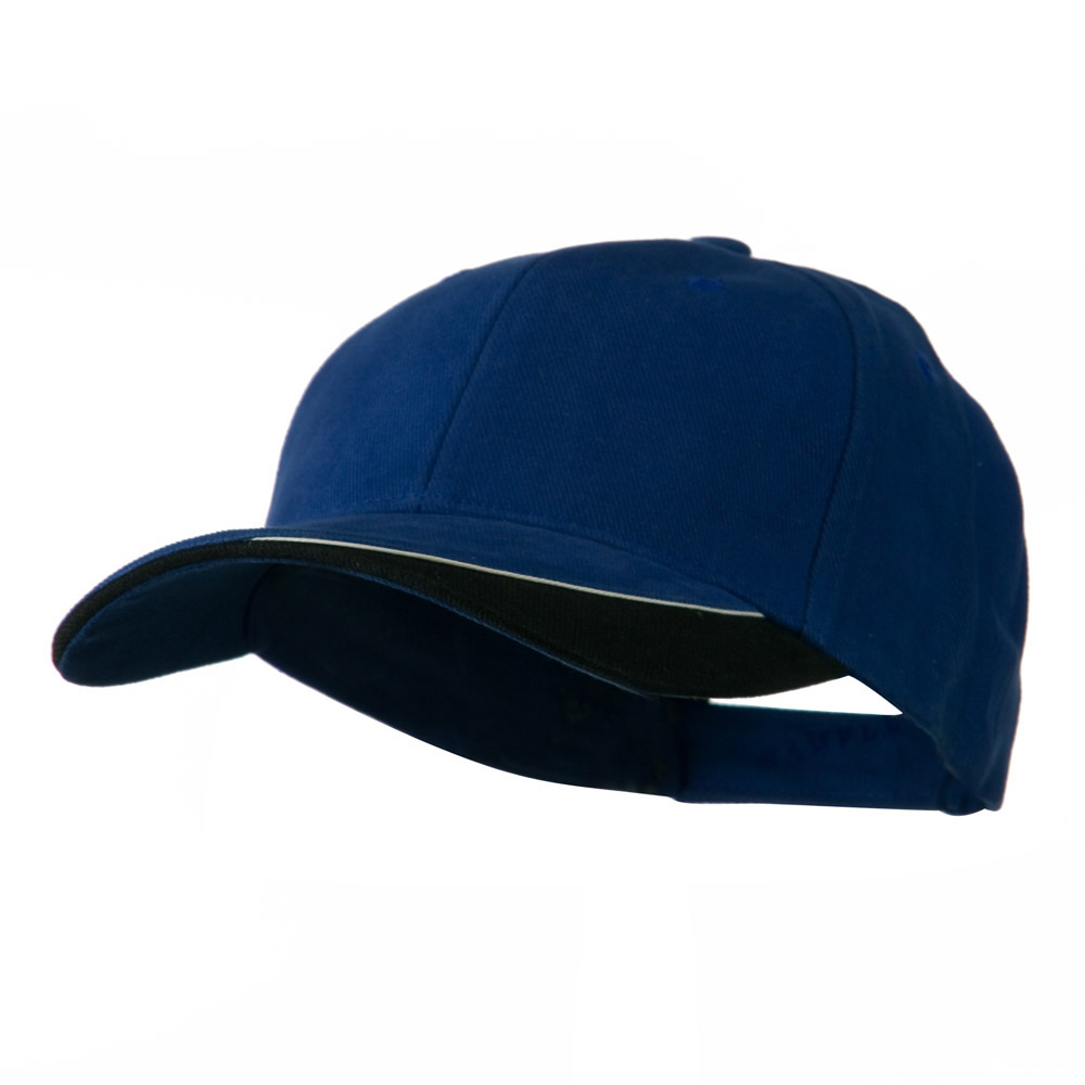 Brushed Cotton Sun Ray Visor Cap - Royal Black - Hats and Caps Online Shop - Hip Head Gear