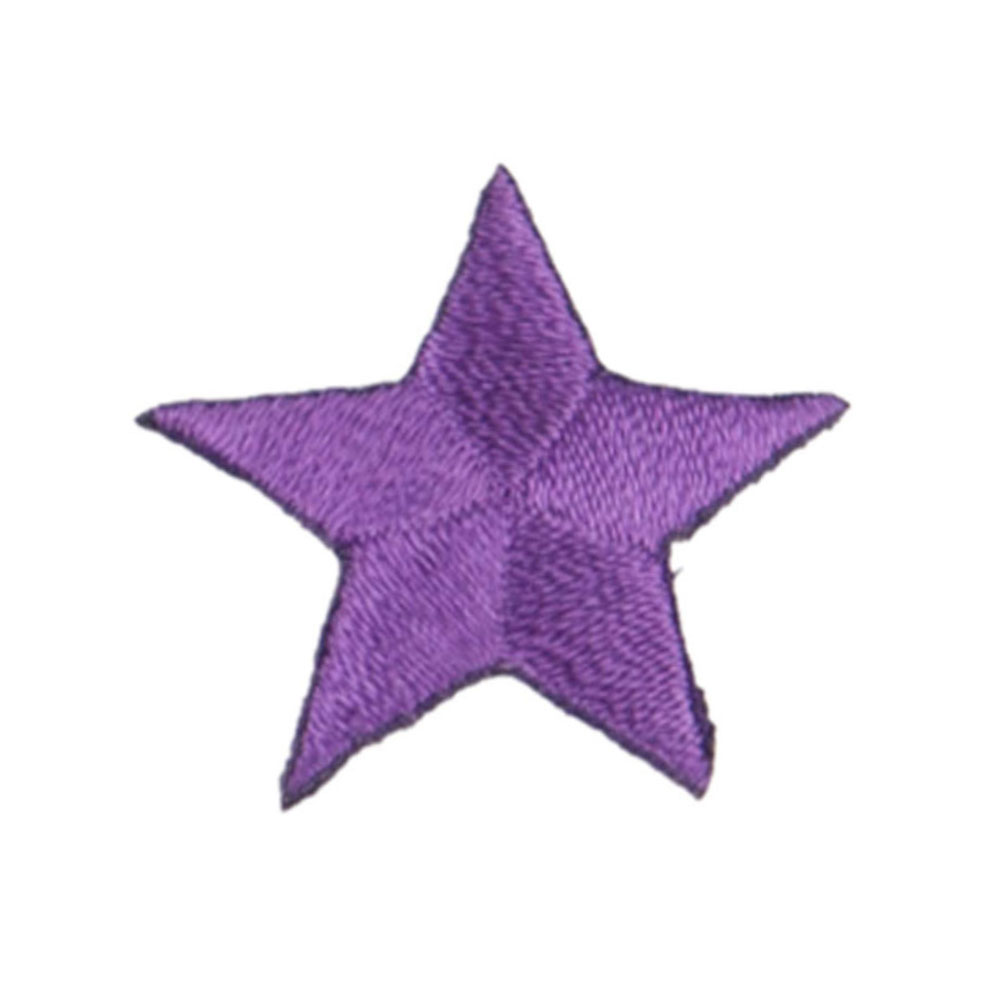 Stars Embroidered Patches - Purple