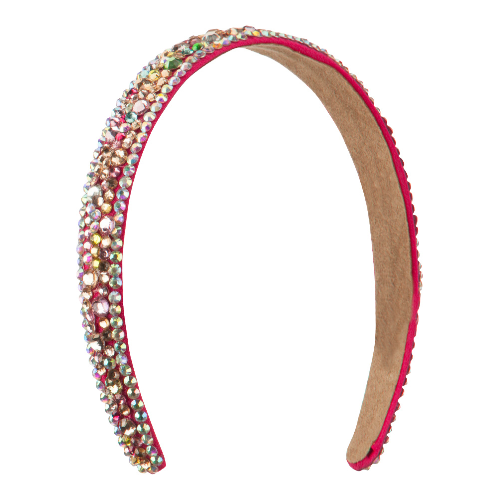 Multi Color Rhinestone Clip On Headband - Pink - Hats and Caps Online Shop - Hip Head Gear