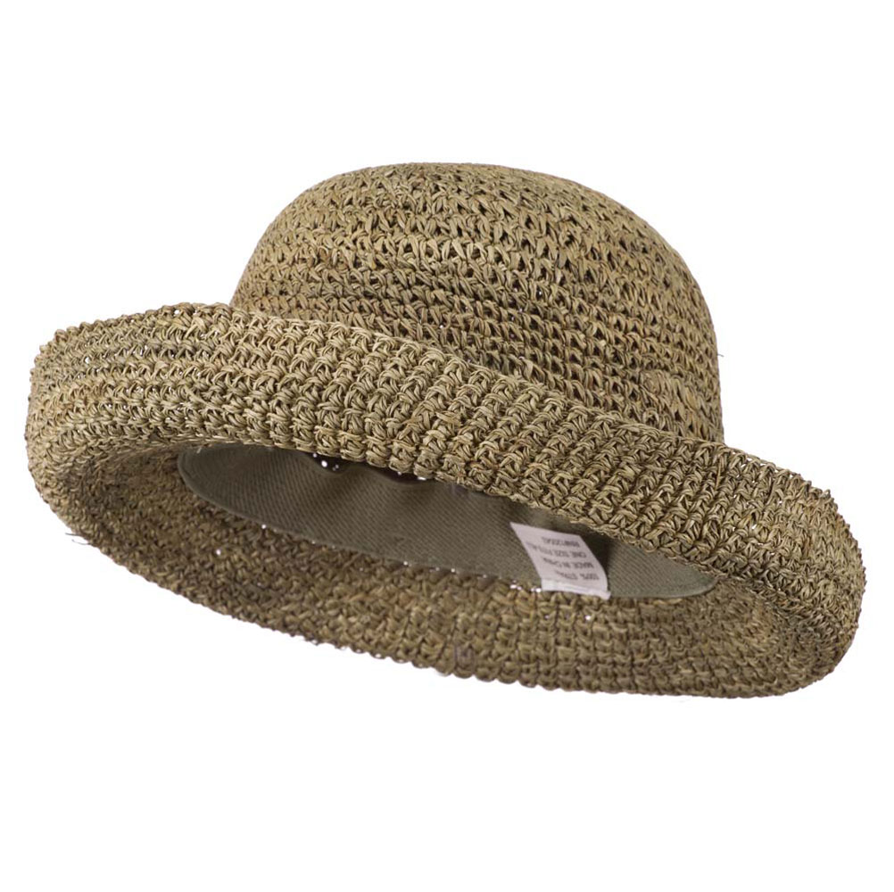 Seagrass Self Tie Ribbon Roll Up Brim Hat - Seagrass - Hats and Caps Online Shop - Hip Head Gear
