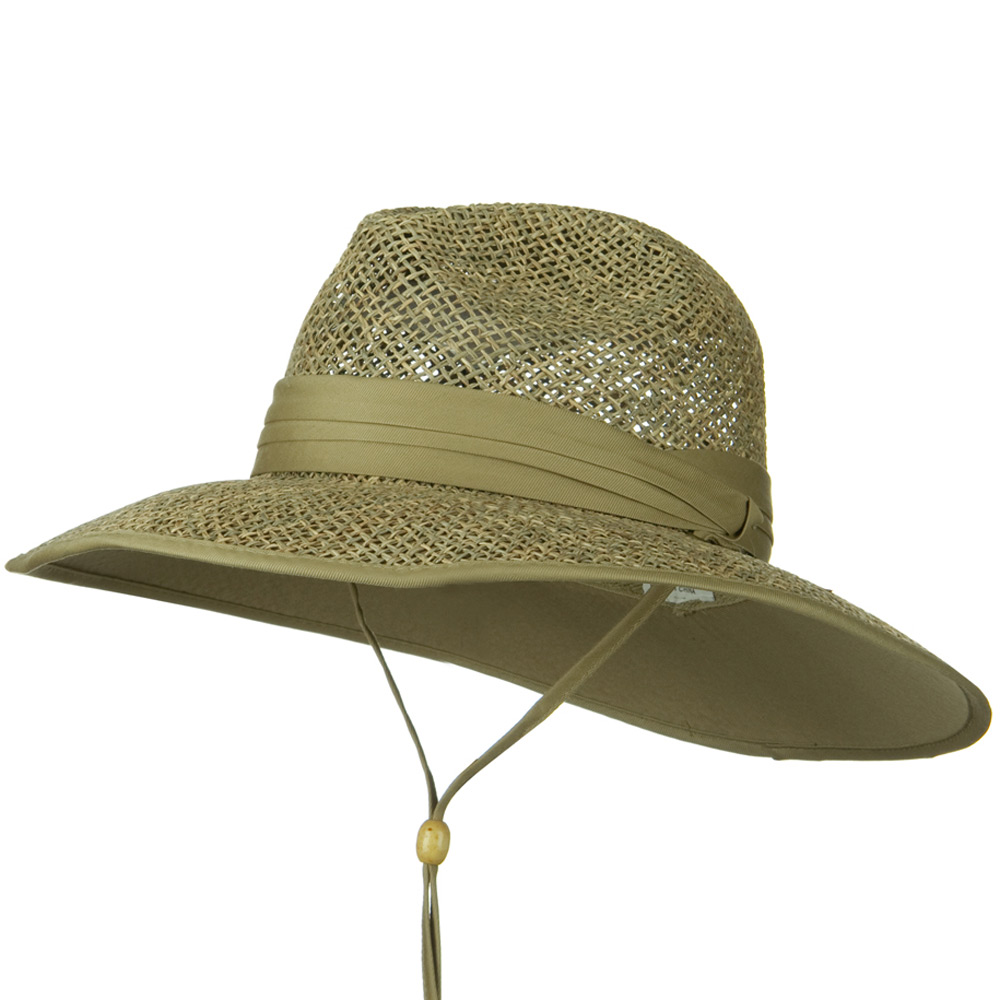 Safari Seagrass Underbrim Hat - Khaki - Hats and Caps Online Shop - Hip Head Gear