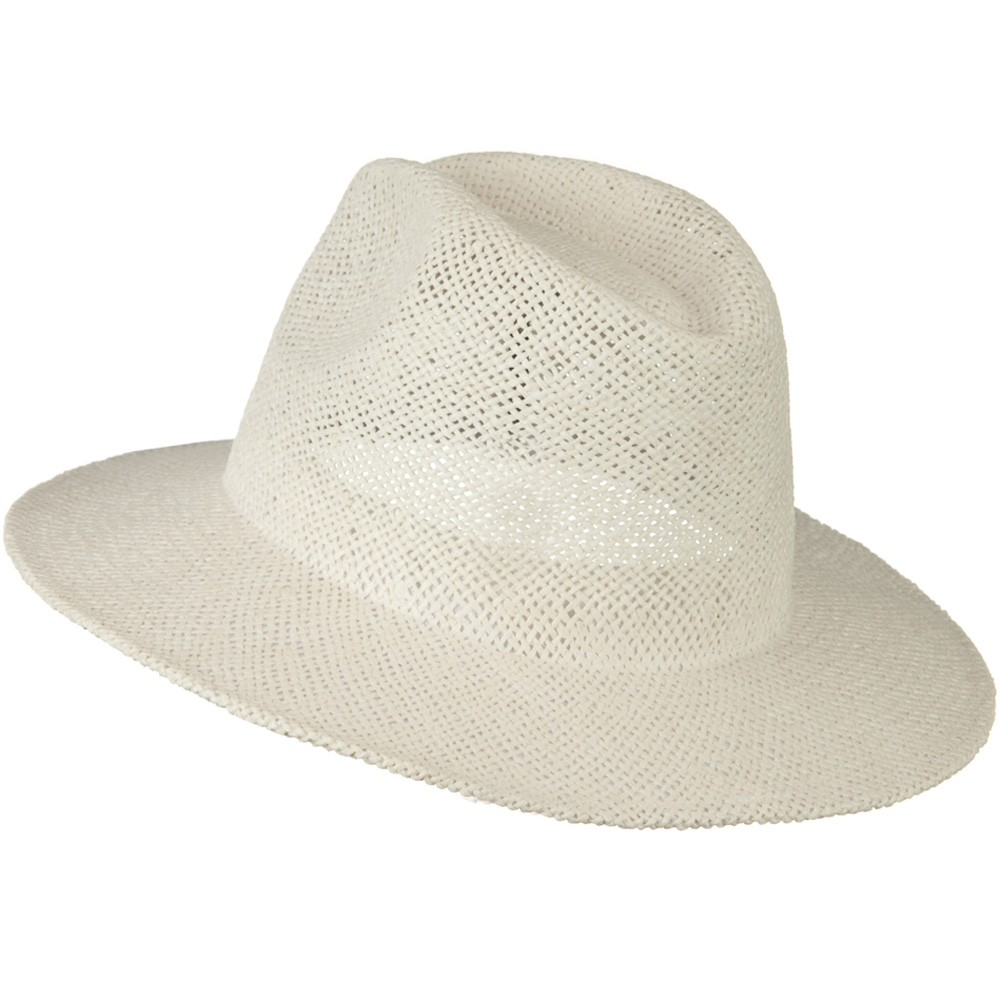 Safari Straw Hats - White No Band - Hats and Caps Online Shop - Hip Head Gear