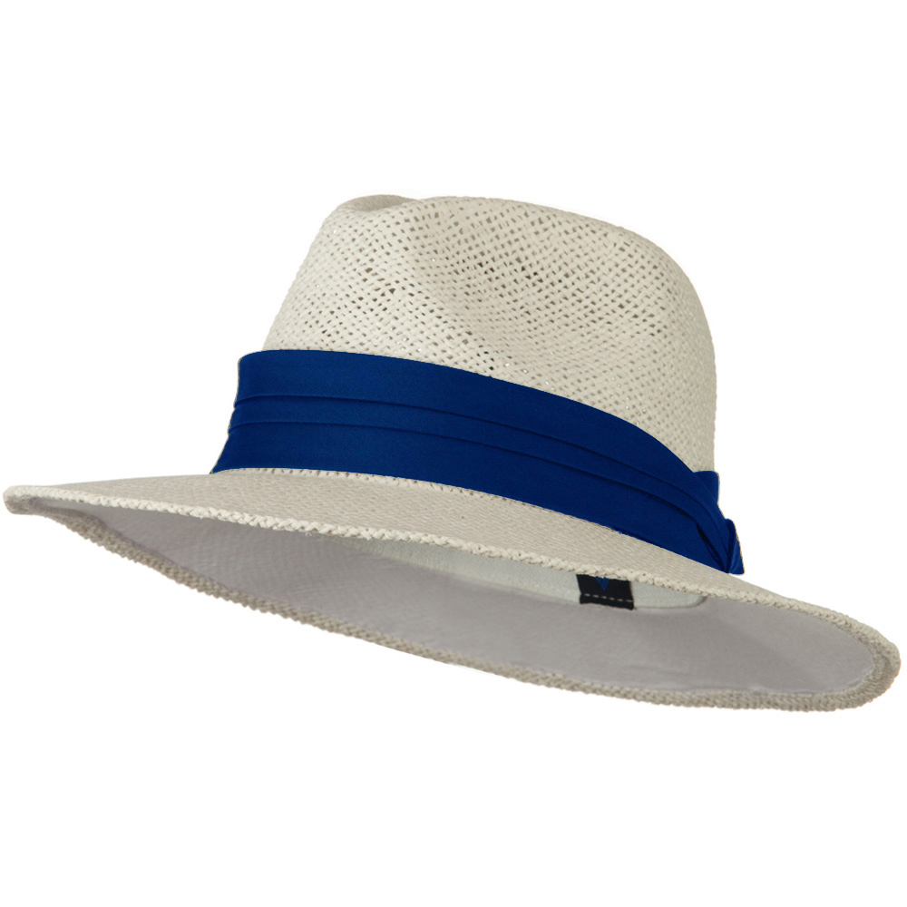 Safari Straw Hats - White Royal Band - Hats and Caps Online Shop - Hip Head Gear