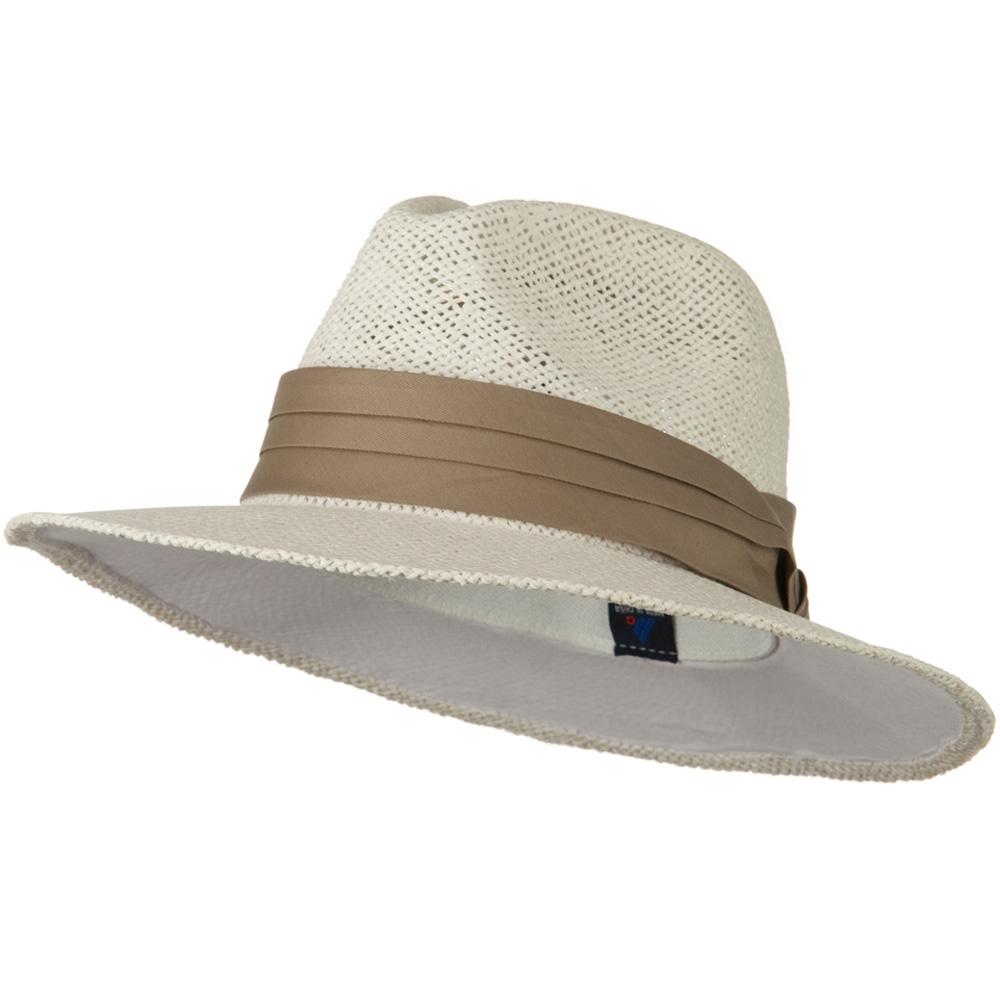 Safari Straw Hats - White Khaki Band - Hats and Caps Online Shop - Hip Head Gear