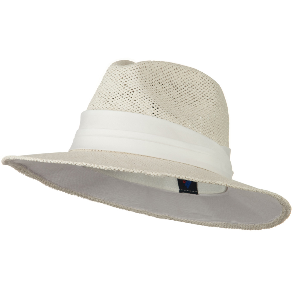 Safari Straw Hats - White White Band - Hats and Caps Online Shop - Hip Head Gear