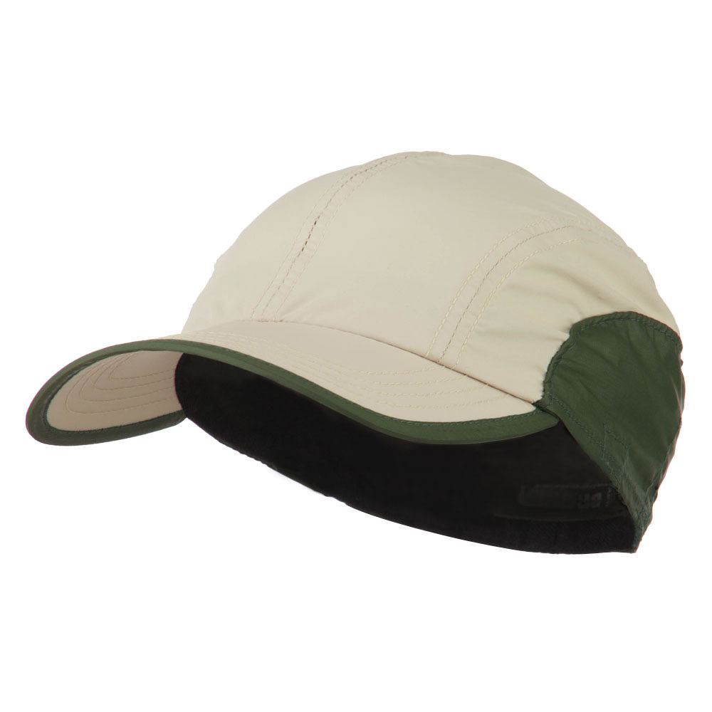 UPF 50+ Sun and Sport Baseball Flap Cap - Tan Olive - Hats and Caps Online Shop - Hip Head Gear