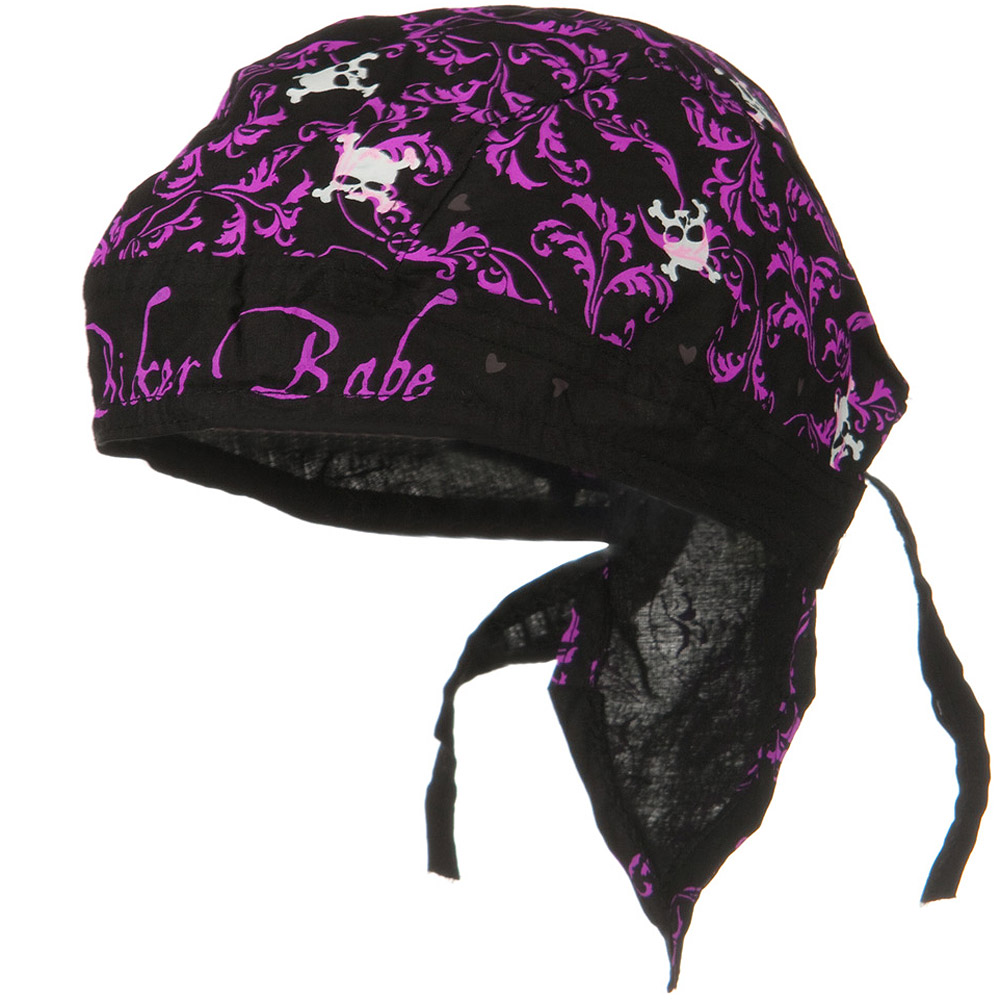 Skull Series Headwrap-Biker Babe - Hats and Caps Online Shop - Hip Head Gear