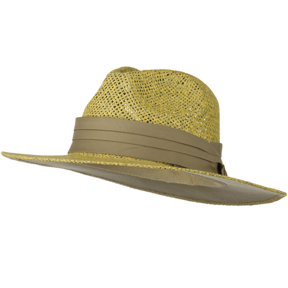Safari Straw Hats - Natural Khaki Band - Hats and Caps Online Shop - Hip Head Gear