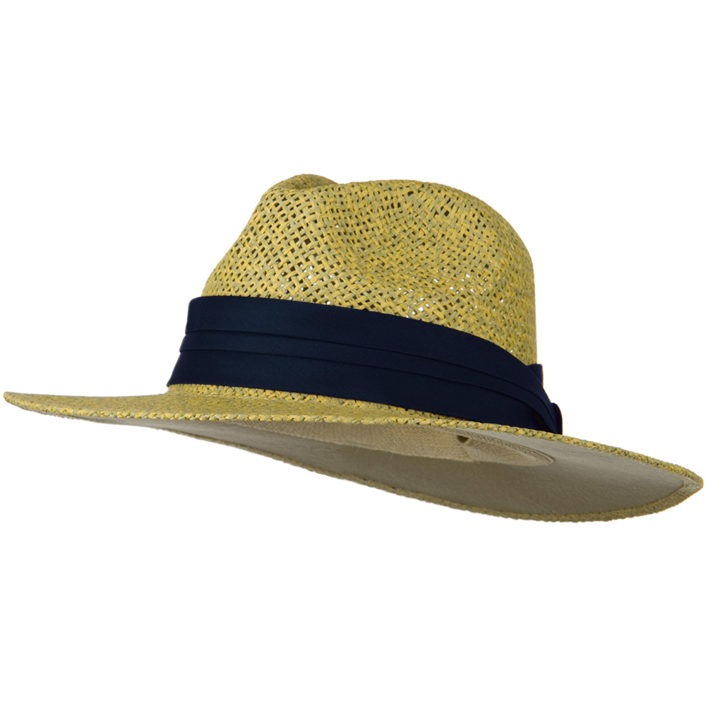 Safari Straw Hats - Natural Navy Band - Hats and Caps Online Shop - Hip Head Gear