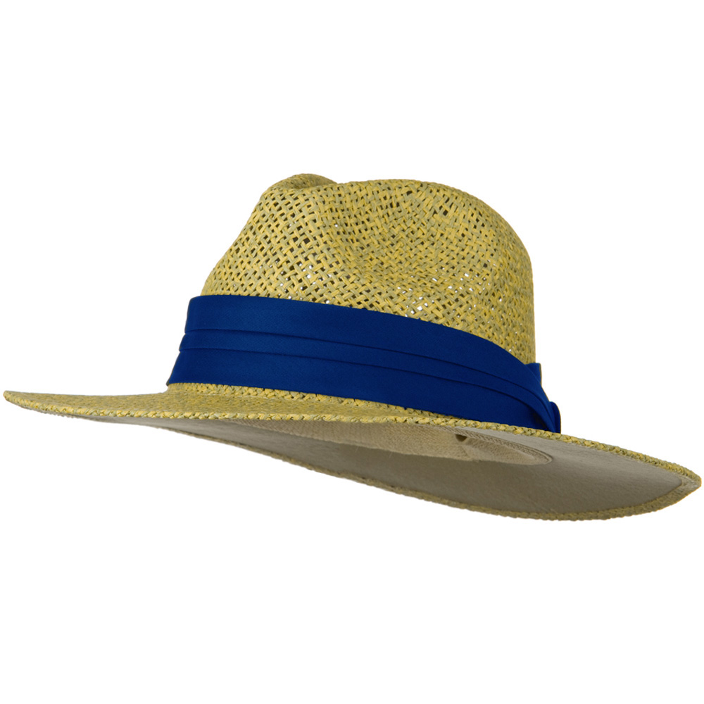 Safari Straw Hats - Natural Royal Band - Hats and Caps Online Shop - Hip Head Gear