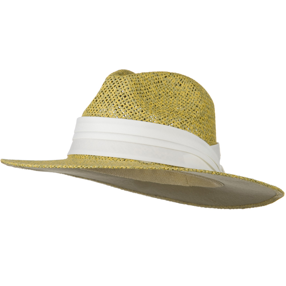 Safari Straw Hats - Natural White Band - Hats and Caps Online Shop - Hip Head Gear