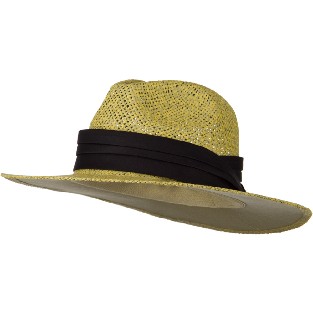Safari Straw Hats - Natural Black Band - Hats and Caps Online Shop - Hip Head Gear