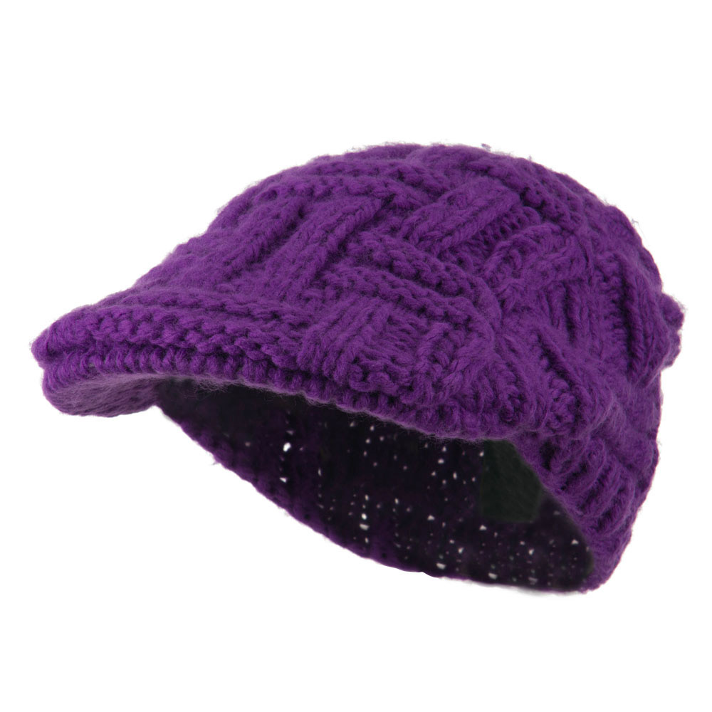 Solid Tangle Knit Ivy - Purple - Hats and Caps Online Shop - Hip Head Gear