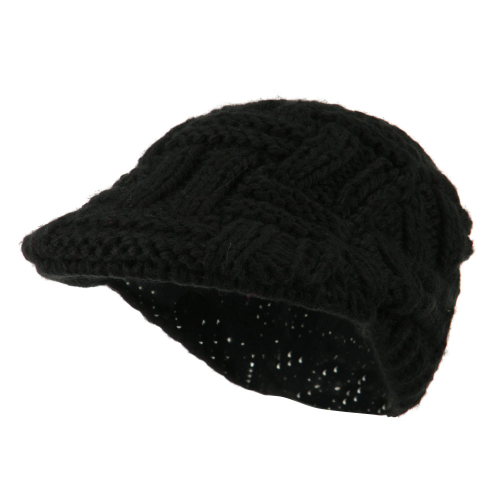 Solid Tangle Knit Ivy - Black - Hats and Caps Online Shop - Hip Head Gear