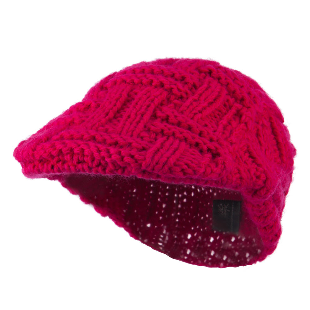 Solid Tangle Knit Ivy - Fuchsia - Hats and Caps Online Shop - Hip Head Gear