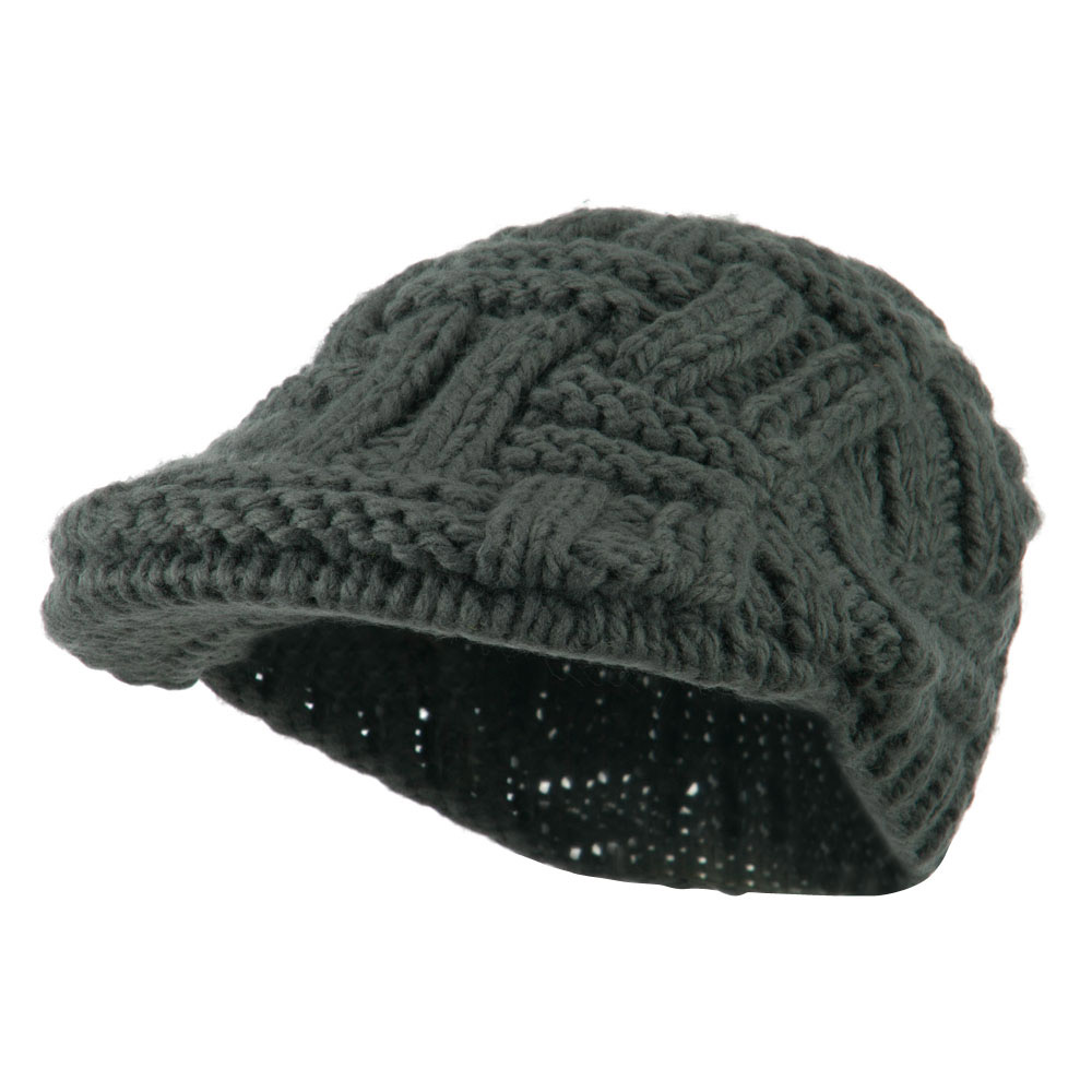 Solid Tangle Knit Ivy - Dark Grey - Hats and Caps Online Shop - Hip Head Gear