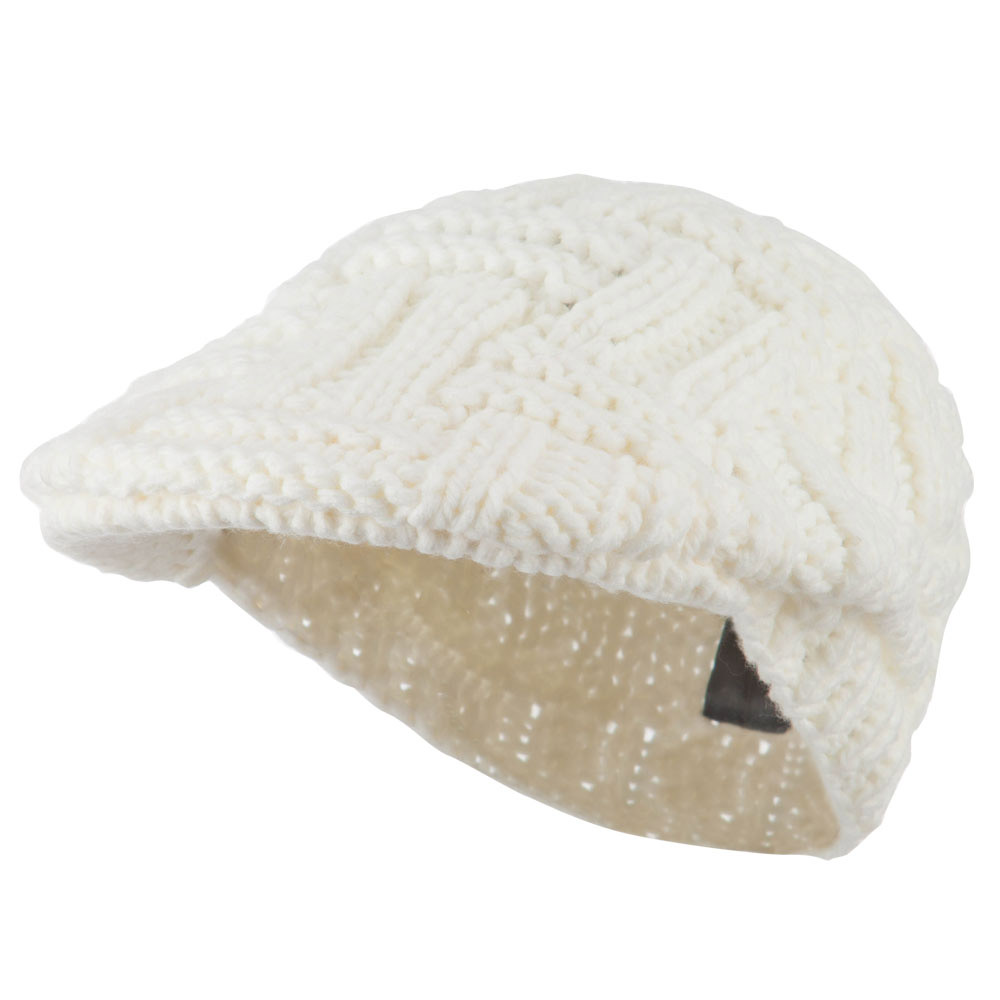 Solid Tangle Knit Ivy - White - Hats and Caps Online Shop - Hip Head Gear