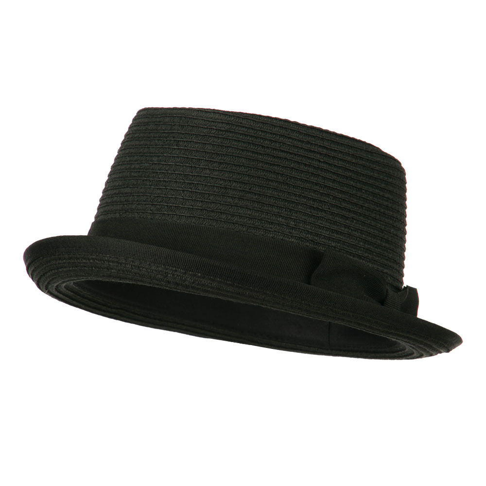 Stand Up Pork Pie Fedora - Black - Hats and Caps Online Shop - Hip Head Gear