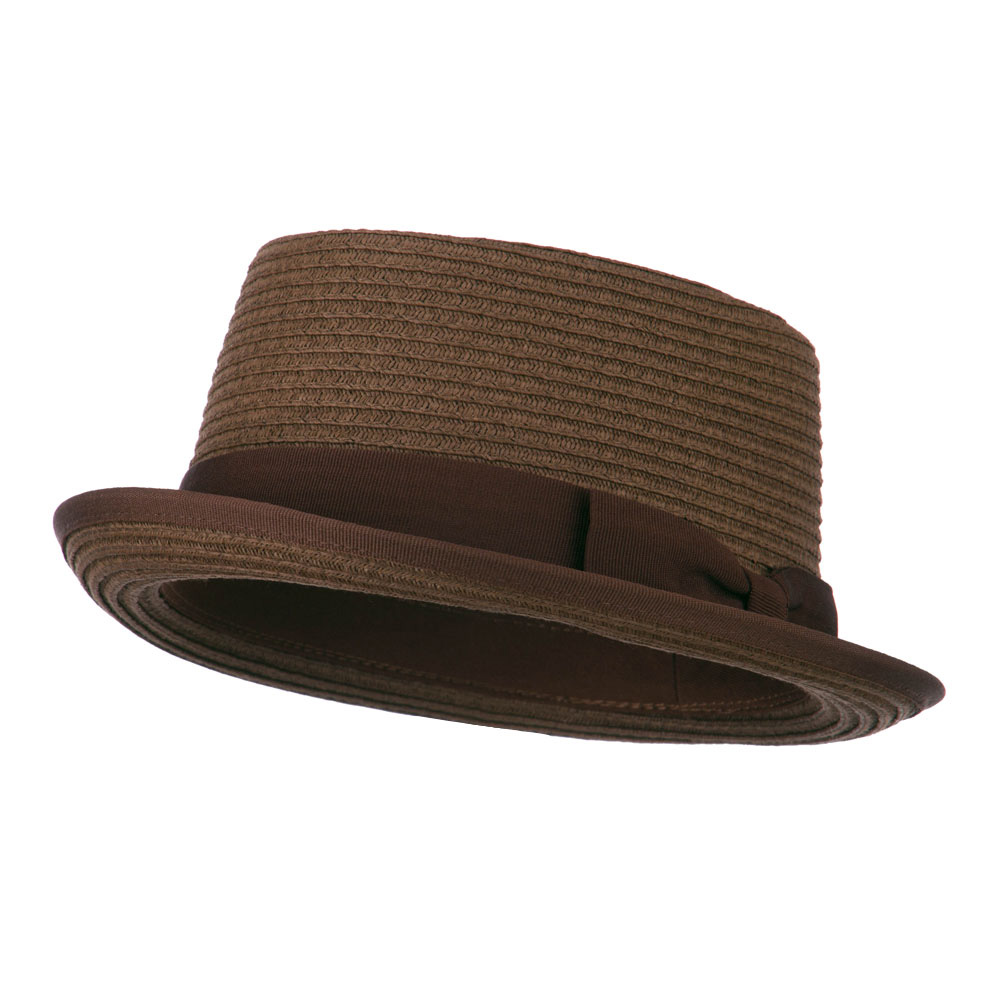 Stand Up Pork Pie Fedora - Brown - Hats and Caps Online Shop - Hip Head Gear