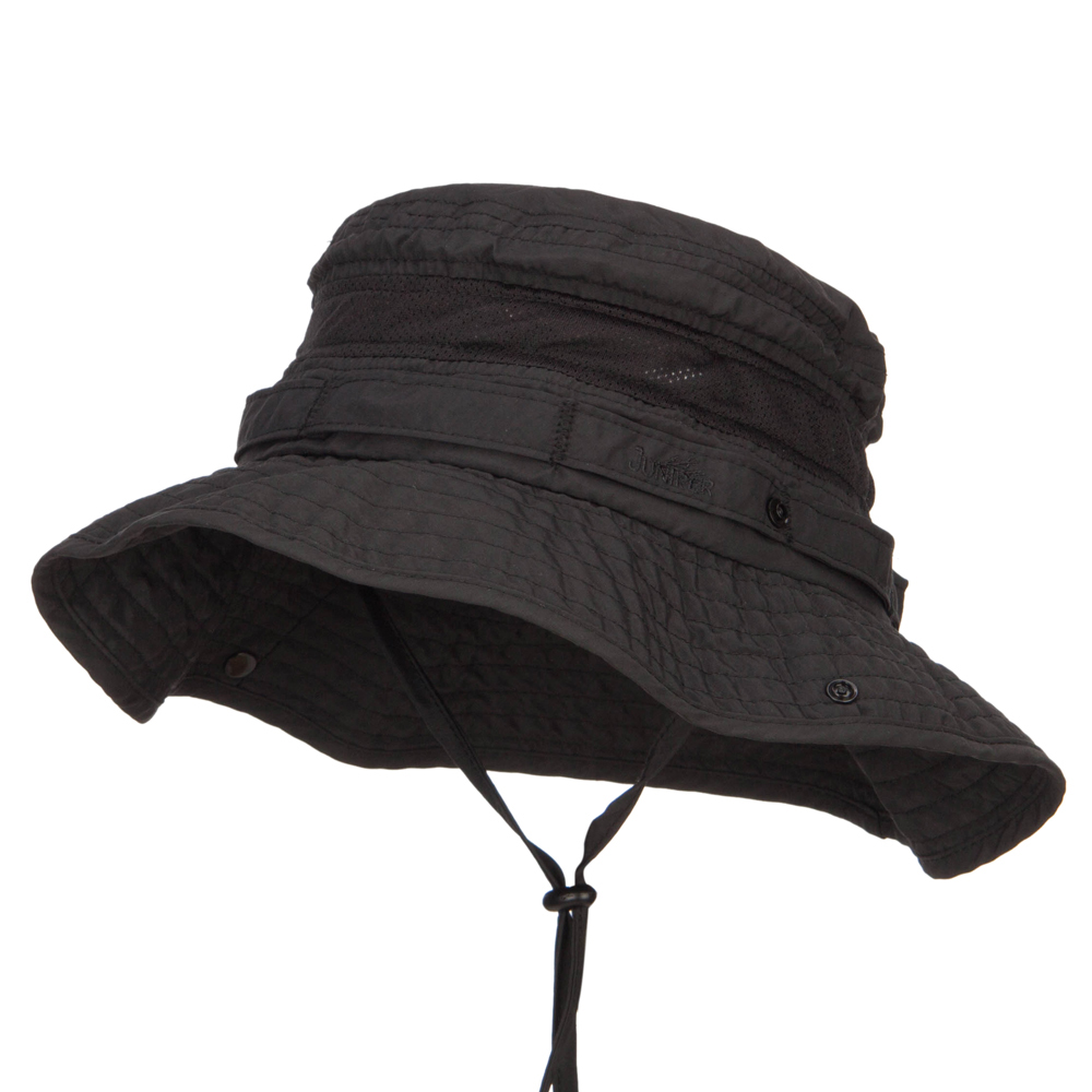 Big Size Talson UV Boonie Hat - Black