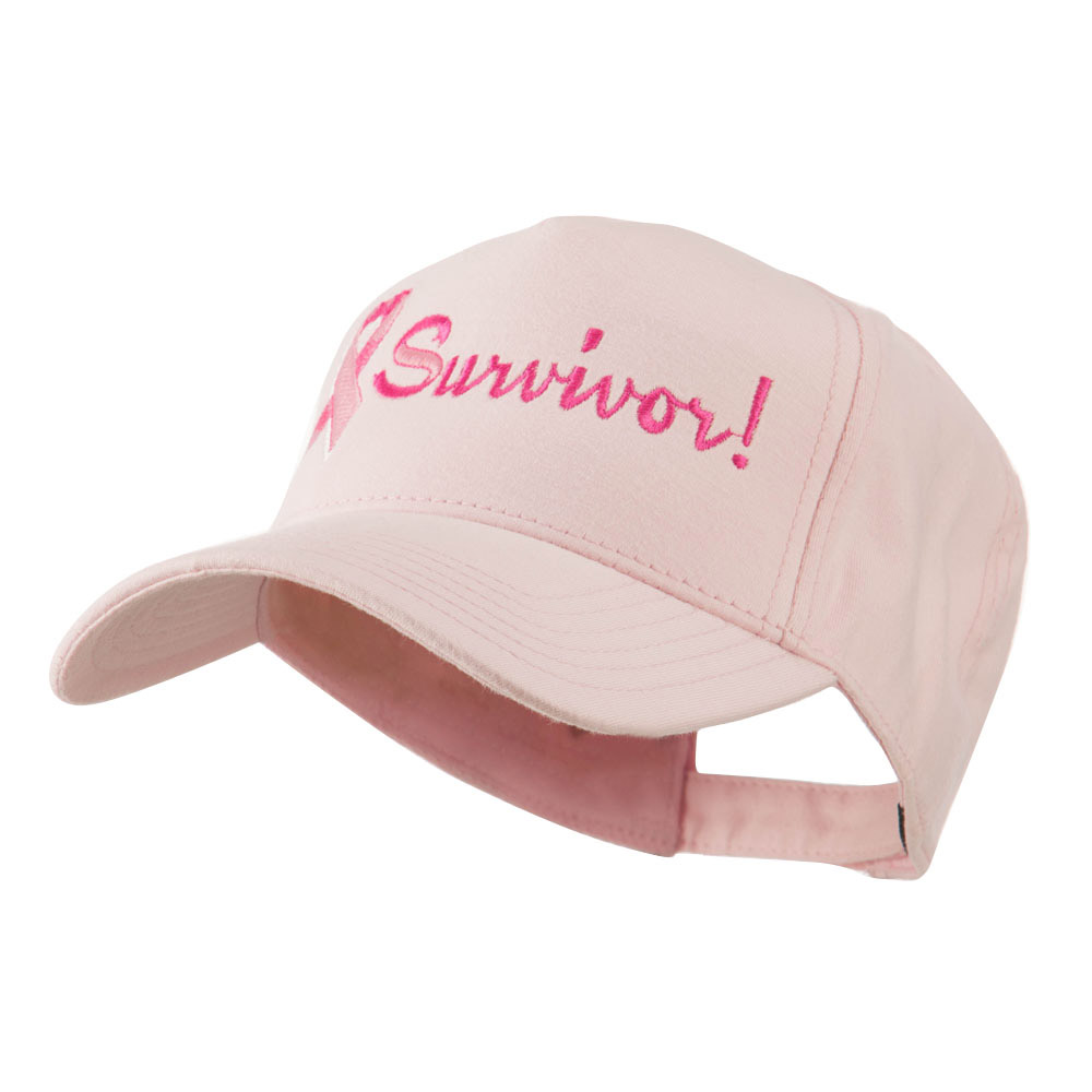Breast Cancer Ribbon Survivor Embroidery Cap - Pink - Hats and Caps Online Shop - Hip Head Gear