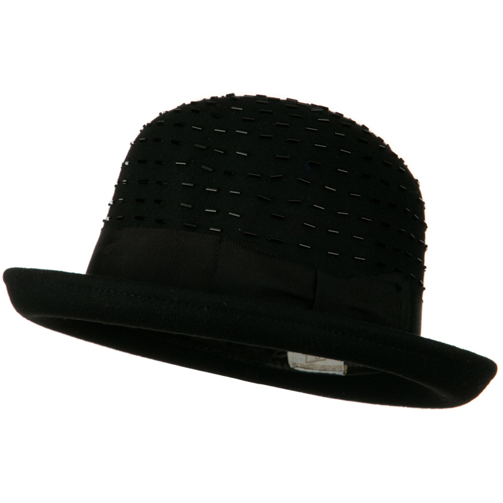 Solid Wool Felt Hat - Black - Hats and Caps Online Shop - Hip Head Gear