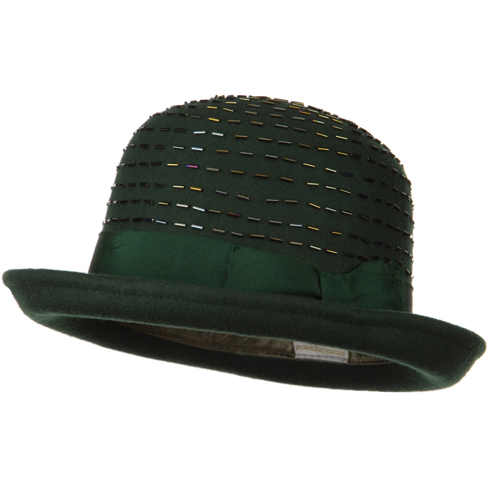 Solid Wool Felt Hat - Green - Hats and Caps Online Shop - Hip Head Gear
