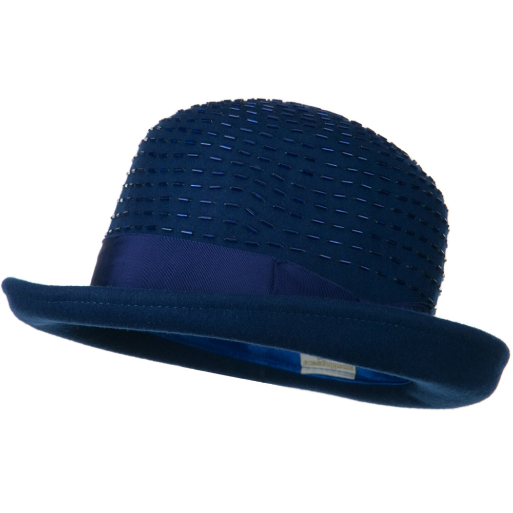 Solid Wool Felt Hat - Blue - Hats and Caps Online Shop - Hip Head Gear