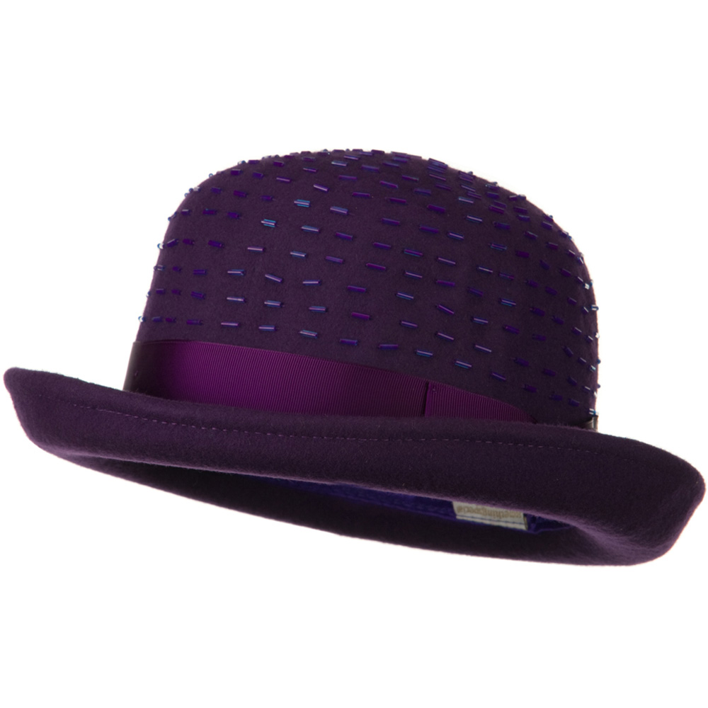 Solid Wool Felt Hat - Plum - Hats and Caps Online Shop - Hip Head Gear