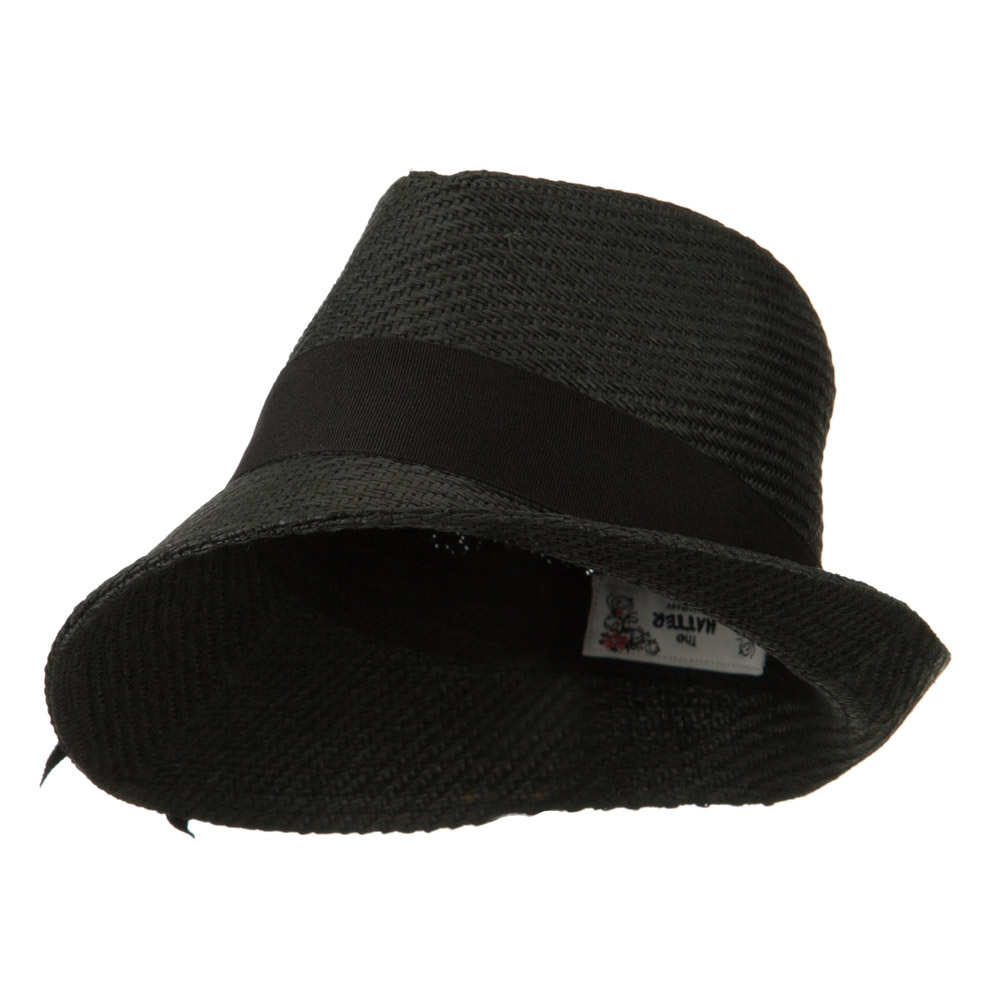 Toyo Asymmetric Big Bow Straw Hat - Black