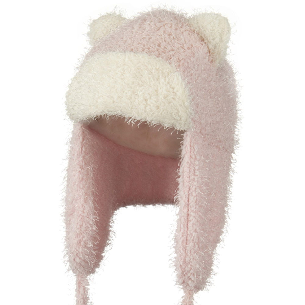Tweed Trapper Animal Hat - Pink - Hats and Caps Online Shop - Hip Head Gear