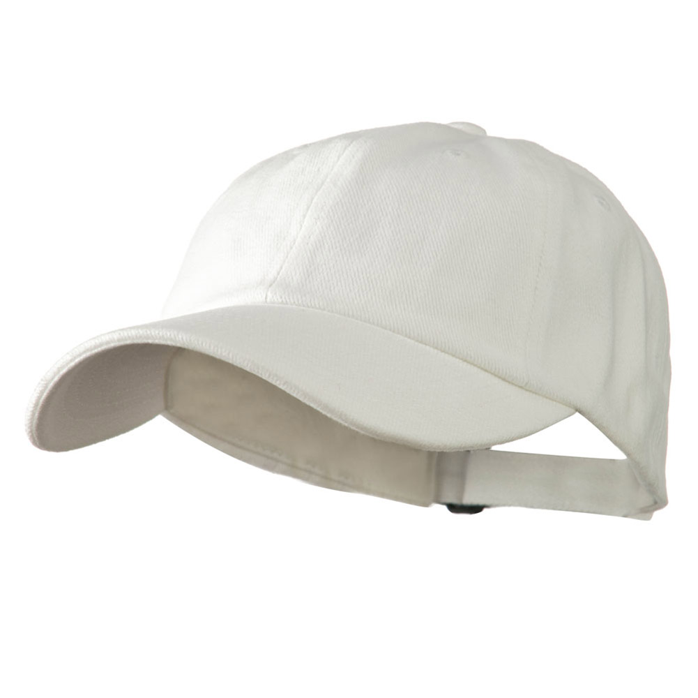Low Profile Heavy Brushed Cotton Twill Cap - White - Hats and Caps Online Shop - Hip Head Gear