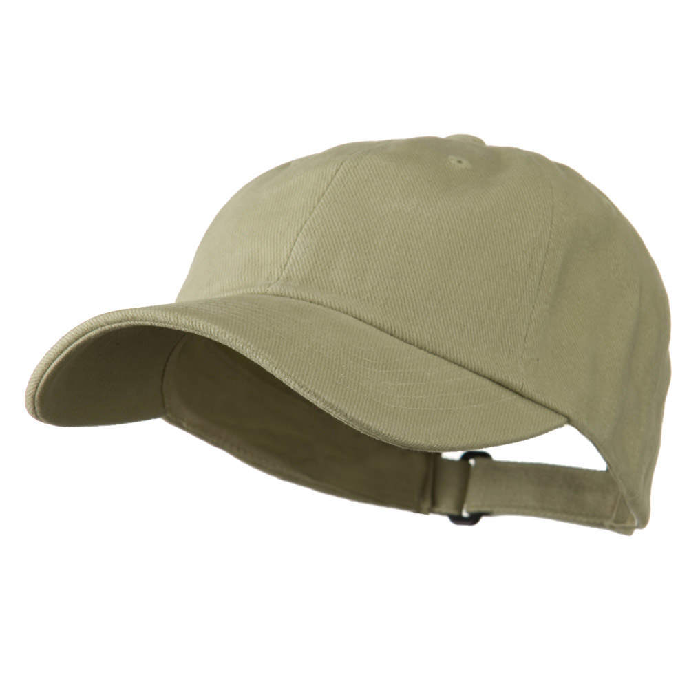 Low Profile Heavy Brushed Cotton Twill Cap - Khaki - Hats and Caps Online Shop - Hip Head Gear