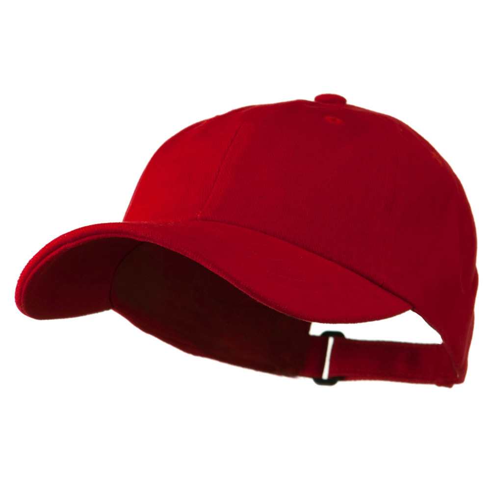 Low Profile Heavy Brushed Cotton Twill Cap - Red - Hats and Caps Online Shop - Hip Head Gear