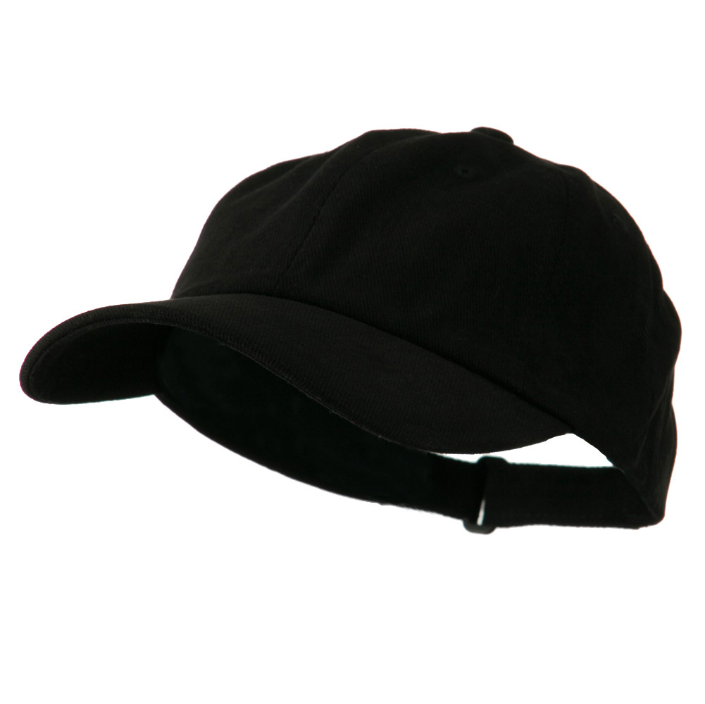 Low Profile Heavy Brushed Cotton Twill Cap - Black - Hats and Caps Online Shop - Hip Head Gear