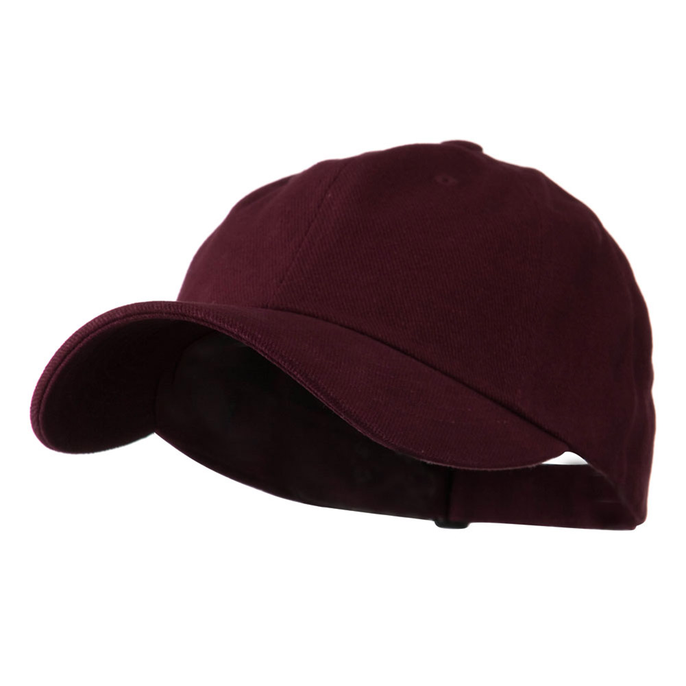 Low Profile Heavy Brushed Cotton Twill Cap - Maroon - Hats and Caps Online Shop - Hip Head Gear
