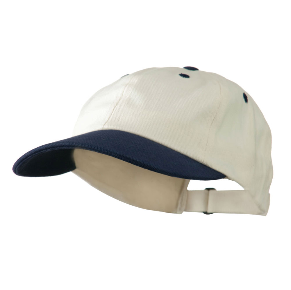 Low Profile Heavy Brushed Cotton Twill Cap - Natural Navy - Hats and Caps Online Shop - Hip Head Gear