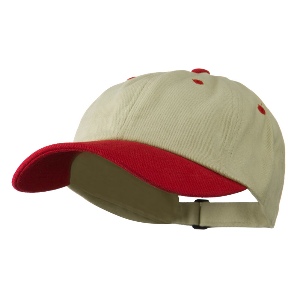 Low Profile Heavy Brushed Cotton Twill Cap - Natural Red - Hats and Caps Online Shop - Hip Head Gear