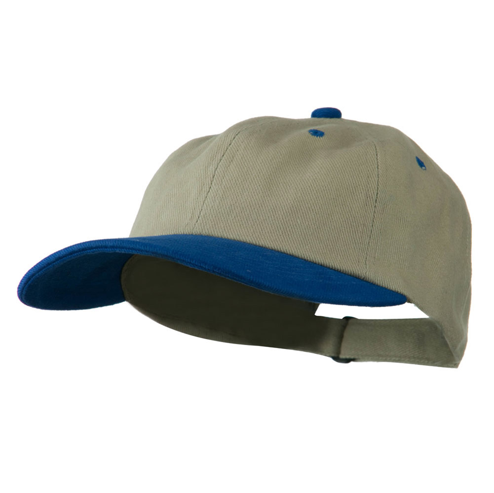 Low Profile Heavy Brushed Cotton Twill Cap - Khaki Royal - Hats and Caps Online Shop - Hip Head Gear