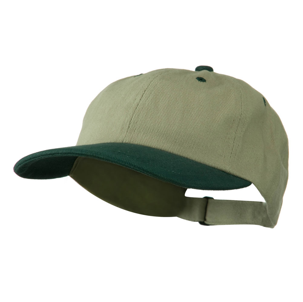 Low Profile Heavy Brushed Cotton Twill Cap - Khaki Dark Green - Hats and Caps Online Shop - Hip Head Gear