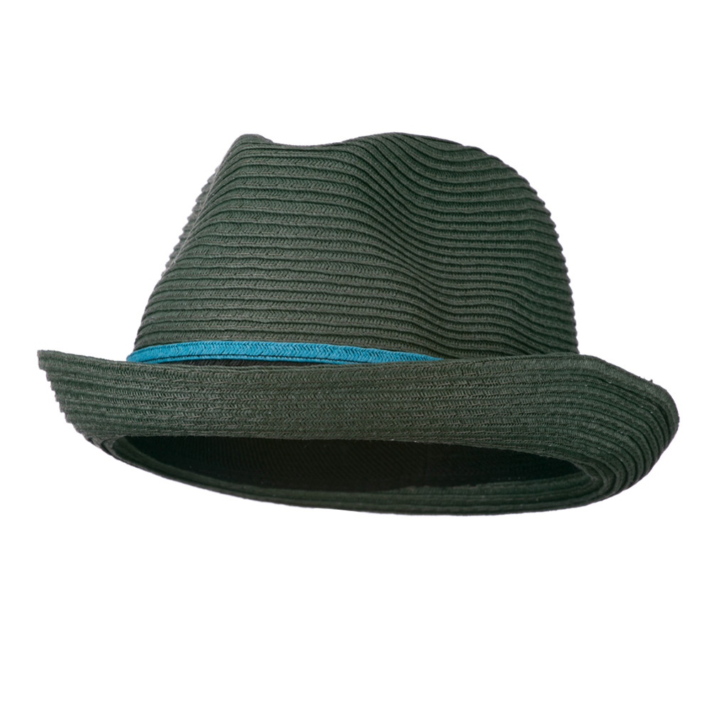 Tri-Colored Men's Fedora Paper Straw Hat - Green - Hats and Caps Online Shop - Hip Head Gear
