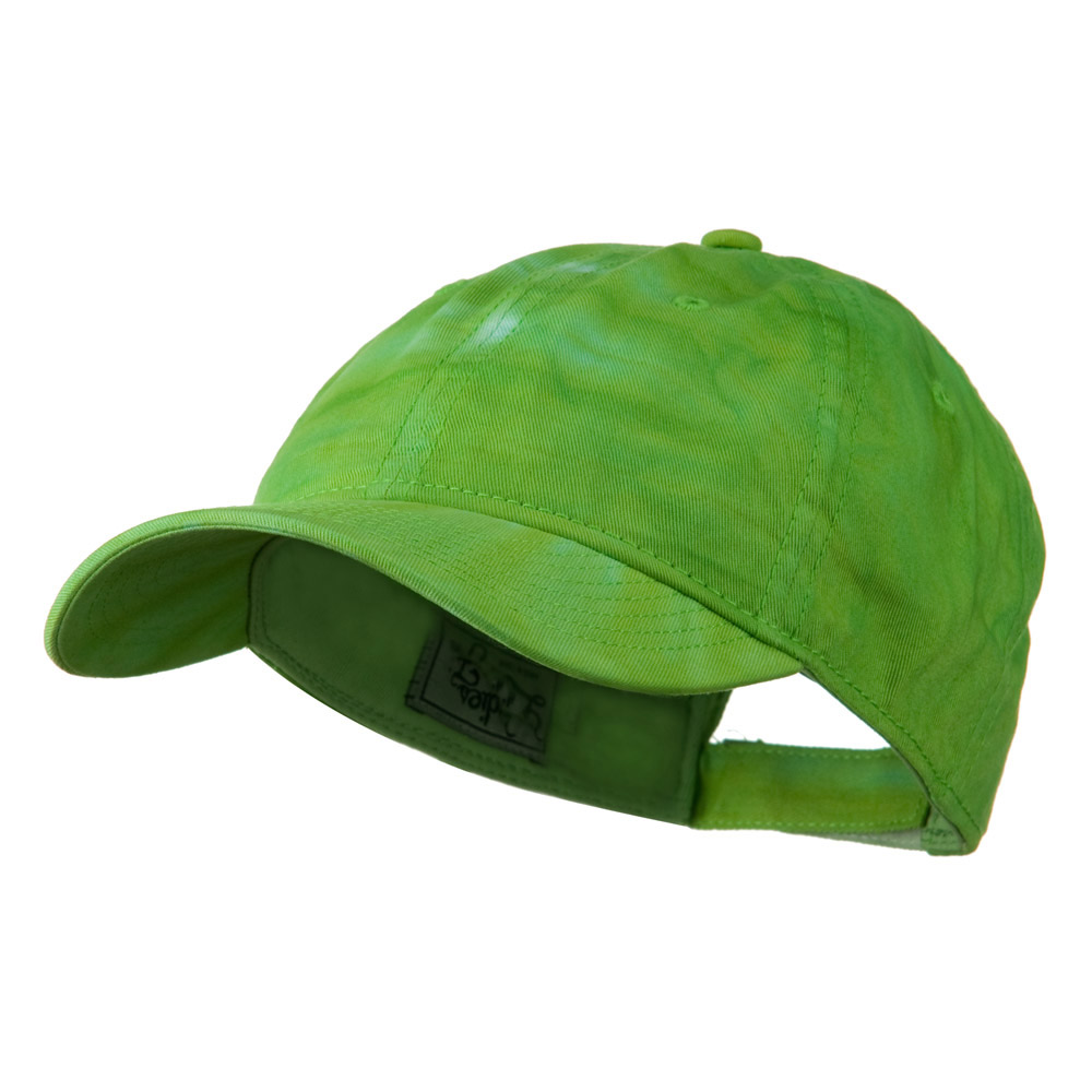 6 Panel Tie Dye Cap - Lime Green - Hats and Caps Online Shop - Hip Head Gear