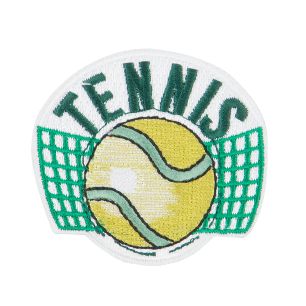 Tennis Ball Embroidered Patch - Green